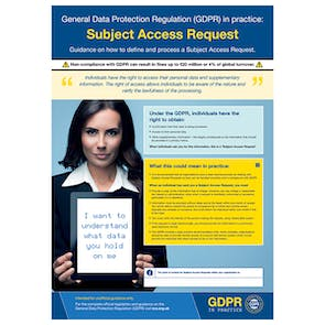 GDPR In Practice Poster - Subject Access Request