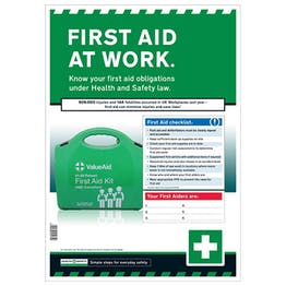 First Aid At Work Safety Poster