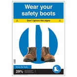 Wear Your Safety Boots Poster