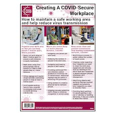 Maintain A Safe Working Area and Help To Reduce Virus Transmission Poster