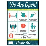 We Are Open! Follow Instructions Poster