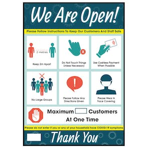 We Are Open - If You have Symptoms Poster