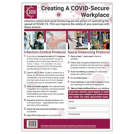 COVID-Secure Workplace Poster - An Overview - 1M