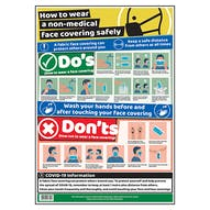 How To Wear A Face Covering Safely Poster