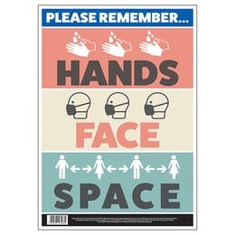 Please Remember - Hands, Face, Space Poster