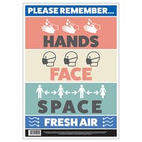 Hands, Face, Space, Fresh Air Poster