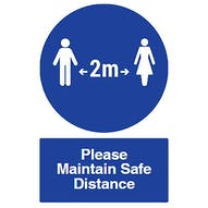 Spacing - Please Maintain Safe Distance