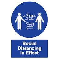 Social Distancing in Effect
