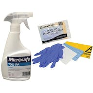 Microsafe 70% IPA 500ml Surface Spray and Personal Protection Pack Kit