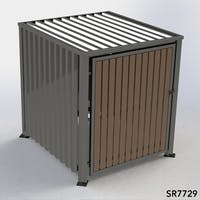 Multipurpose Storage Shelter - Corrugated Metal - With Roof