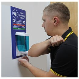 Hand Sanitising Manual Dispenser Station