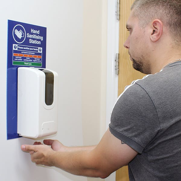 Hand Sanitising Automatic Dispenser Station