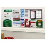 Custom Logo Site Safety Notice Board / 5 Point Fire Action Notice