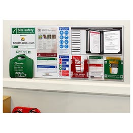 Custom Logo Site Safety Notice Board / 6 Point Fire Action Notice