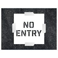 No Entry Stencil