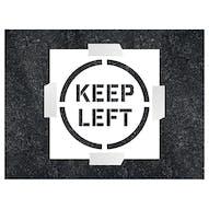 Keep Left Stencil