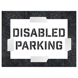 Disabled Parking Stencil