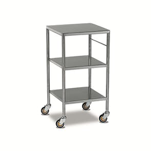 Stainless Steel Trolleys - Fixed, Sides Down Shelves