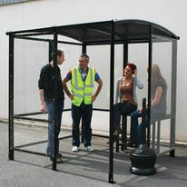 Steel Full-Frame 4-Sided Smoking Shelter - Aluminum Roof