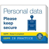 GDPR In Practice Stickers - For Desks & Cabinets