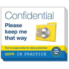 GDPR In Practice Stickers - For Desk Trays & Folders