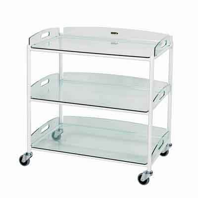 Sunflower Large Dressing Trolleys Glass Effect