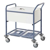 Sunflower Records Trolley With Folding Locking Top