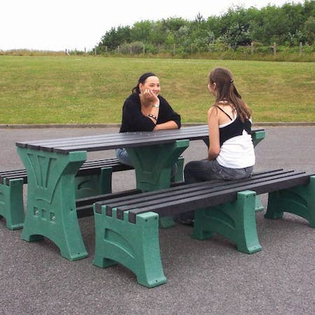 Stonehenge Dining Set with Benches