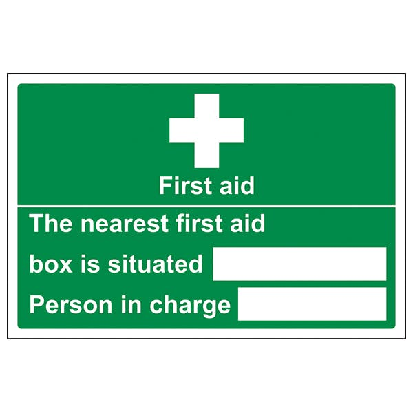 The Nearest First Aid Box Is Situated