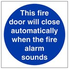 This Fire Door Will Close Automatically