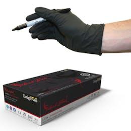 Unigloves Select Black Latex Gloves