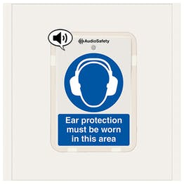 Ear Protection Must Be Worn - Talking Safety Sign