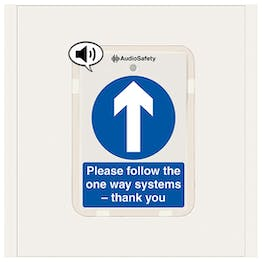 One Way System - Talking Safety Sign