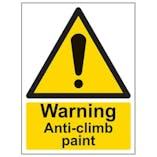Eco-Friendly Warning Anti-Climb Paint - Portrait