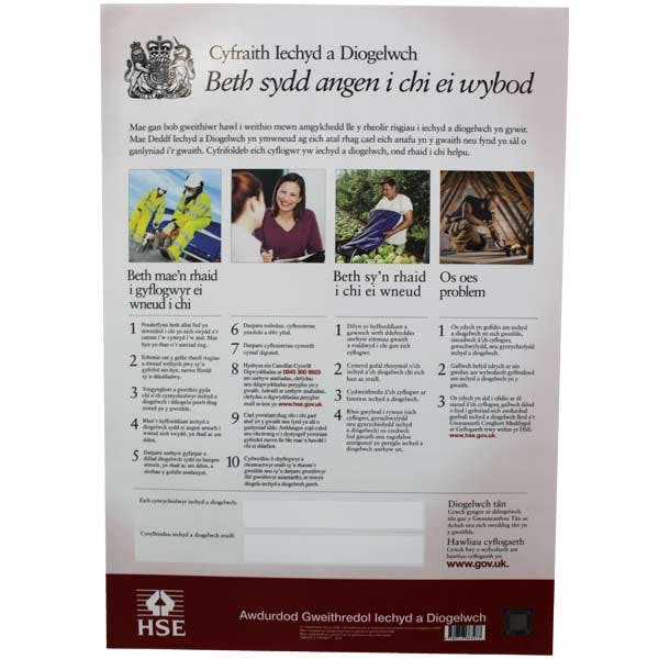 Welsh Language HSE Law Poster