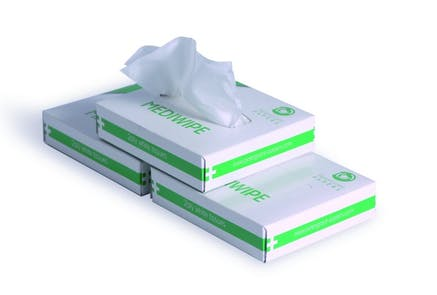 White Medical Wipes