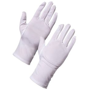 White Polyester Gloves