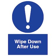 Wipe Down After Use