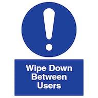 Wipe Down Between Users