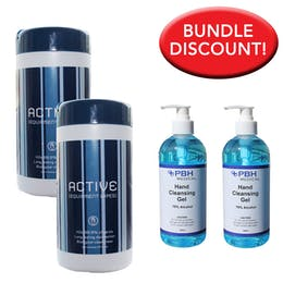 70% Alcohol Wipe and Sanitiser Bundle