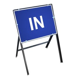 In Sign with Stanchion Frame