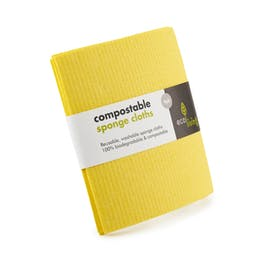 ecoLiving Yellow Compostable Sponge Cleaning Cloths
