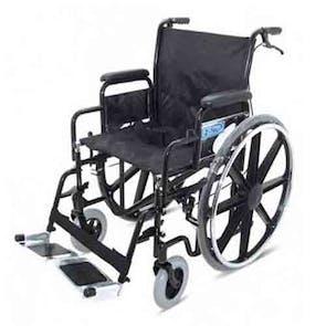 Z-Tec Folding Heavy Duty Steel Wheelchair